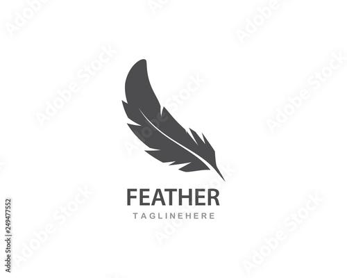 Stampa su Tela feather logo vector