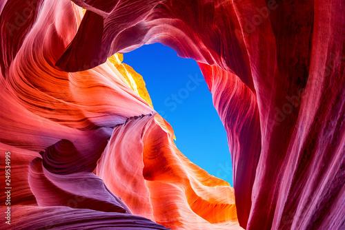 Fotografia Antelope Canyon in the Navajo Reservation near Page, Arizona USA