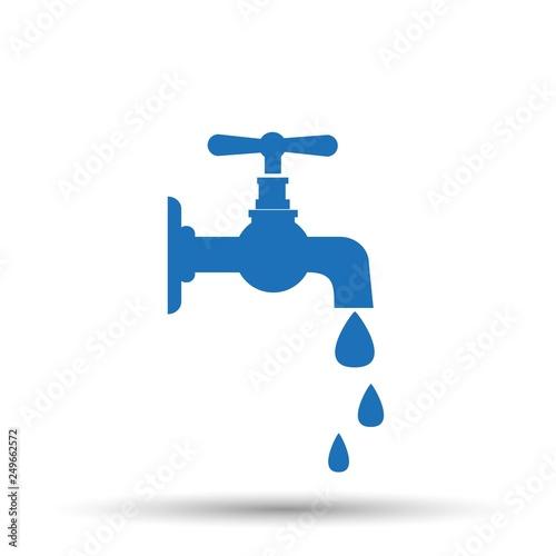 Obraz na plátně Water tap vector icon