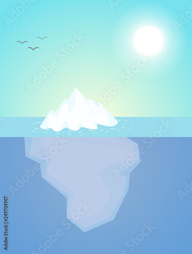 Fotografia The iceberg that appeared just a little above the water The nature of the subconscious of people