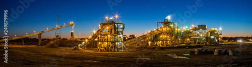 Photo Night view of a copper mine head in NSW Australia