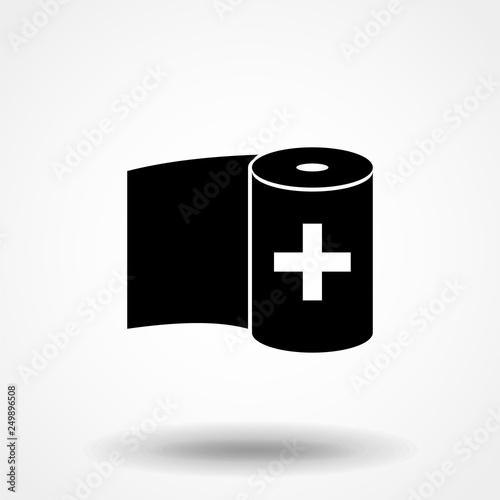 Canvas Print bandage icon. Simple filled bandage icon. On white background.