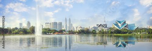 Fototapeta premium Kuala Lumpur, Malezja panorama panoramę w parku Titiwangsa