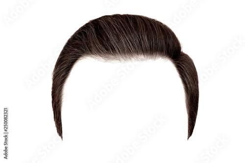 Obraz na płótnie Classic men hairstyle. Brown hair isolated on white background