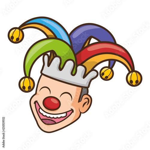 Fotografia, Obraz jester face with hat