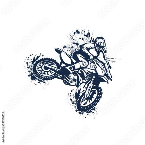 Canvas Print motocross vector