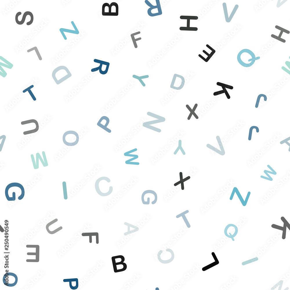 Jasnoniebieski, zielony wektor wzór z symbolami ABC. <span>plik: #250490549 | autor: smaria2015</span>