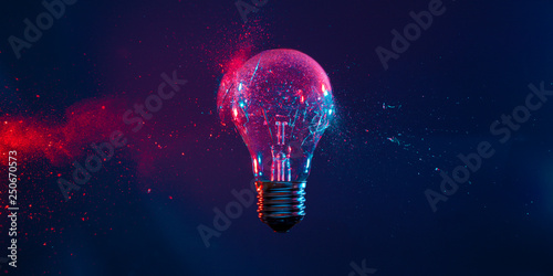 bulb explosion background