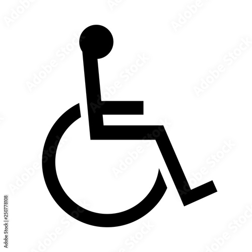 Fotomural 車椅子のマーク