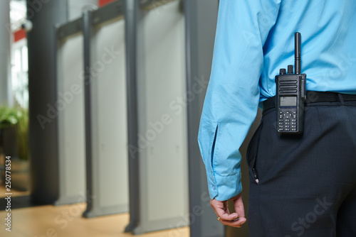 Fototapeta security guard on duty
