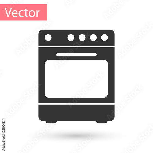 Grey Oven icon isolated on white background Fototapet