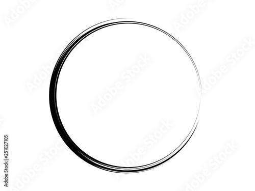 Slika na platnu Grunge ink circle made of black paint