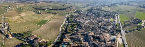 Tablou Canvas Drone Aerial Panorama of St. Emilion France Saint Emilion