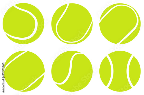 Photo Tennis Ball set isolated on white background,Vector tennis design