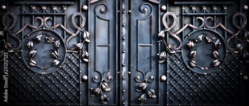 Leinwand Poster big large metal gates