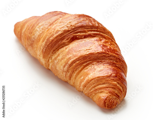 Cuadros en Lienzo fresh baked croissant isolated on white background