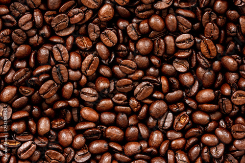 Obraz na płótnie Roasted coffee beans background