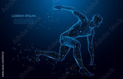 Fotografia Human body low poly wireframe