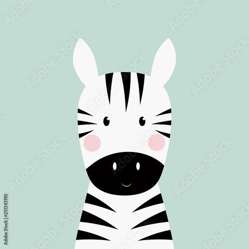 Fototapeta zebra head card