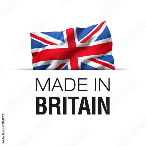Made in Britain England - United Kingdom Label Fototapete