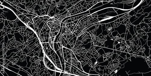 Fotografie, Obraz Urban vector city map of Liege, Belgium