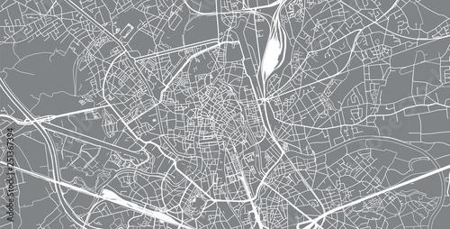 Fotografie, Obraz Urban vector city map of Ghent, Belgium