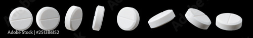 Fotografía Different angles of white pill