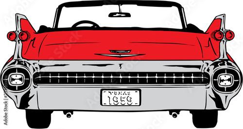 Obraz na plátně 1959 Cadillac Vector Illustration