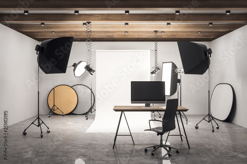 Fotomural Concrete photo studio