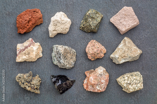 igneous rock geology collection Fototapet