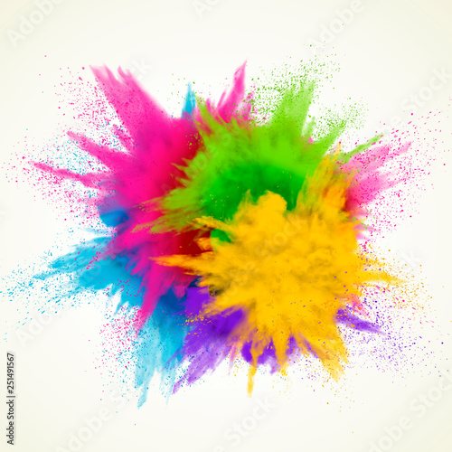 Carta da parati Colorful powder explosion effect