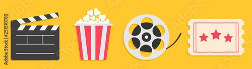 Fotografía Cinema icon set line