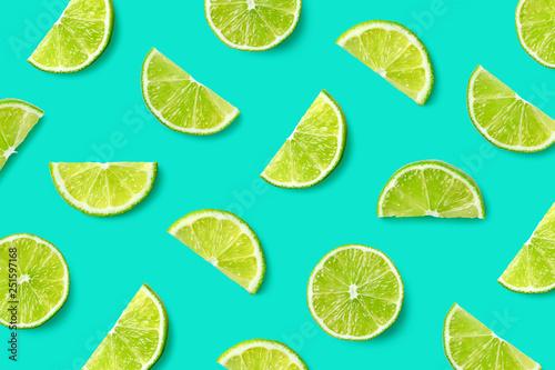 Fotografia Fruit pattern of lime slices