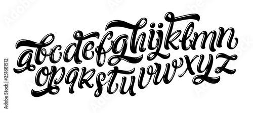 Fotografie, Obraz Vector hand drawn alphabet isolated on white background