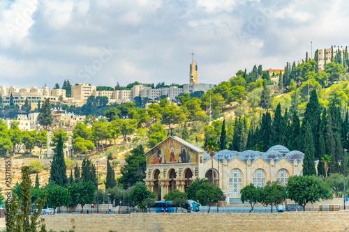 Photo Gethsemane church in Jerusalem, Israel