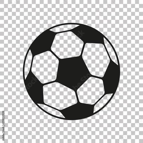 Football icon in flat style Fototapeta