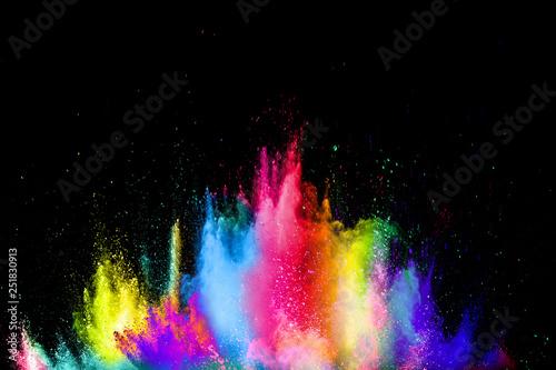 Slika na platnu Colorful explosion for Happy Holi powder