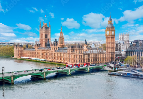 Obraz na plátně Houses of Parliament and Big Ben, London, UK