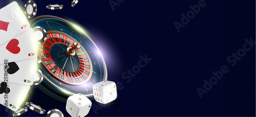 Canvas Print Online casino banner or flyer background