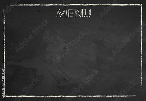 Carta da parati Chalkboard Food Menu