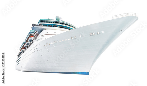 Fotografia Isolated cruise liner on a white background