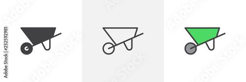 Construction wheelbarrow icon Poster Mural XXL