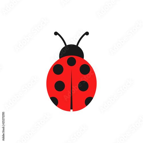 Ladybug illustration. Vector. Isolated. Fotobehang