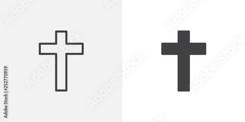 Fotografering Religion cross icon