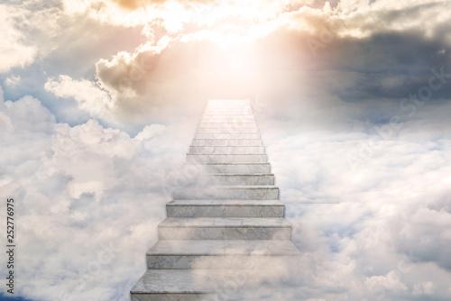 Stairway to heaven. Concept Religion background Fototapet