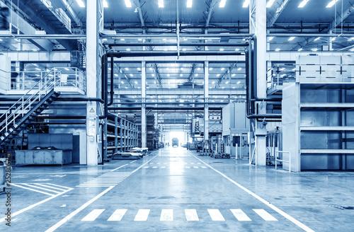 Valokuva Automobile factory production workshop