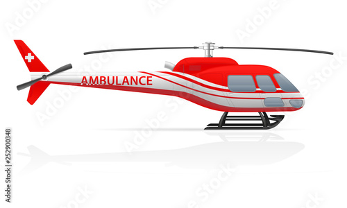 Canvas Print ambulance helicopter vector illustration