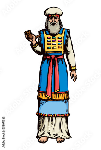 Fotografie, Obraz High Priest. Vector drawing