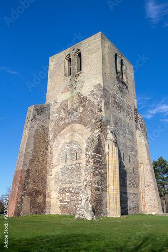 Fotografie, Obraz Tower of Saint Winoc Abbey, Bergues, Nord Pas de Calais, France