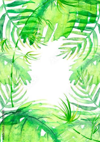 Obraz na płótnie Ramka z liści